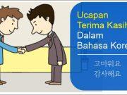 ucapan terima kasih bahasa Korea