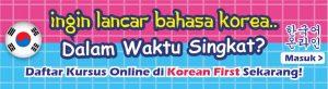 kursus bahasa korea online gratis