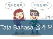 tata bahasa korea elkeyo