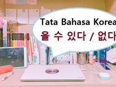tata bahasa korea 을 수 있다