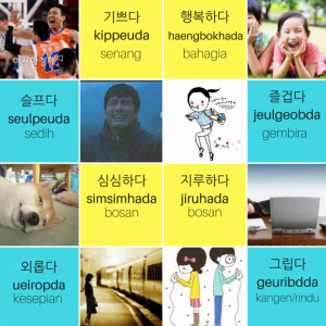 Kosakata perasaan Bahasa Korea