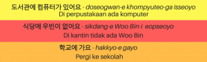 partikel lokasi bahasa korea