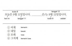 Latihan soal Bahasa Korea