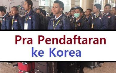 pra pendaftaran kerja korea