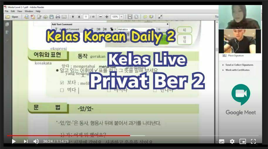 kelas live korea 2